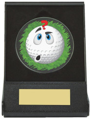 Black Case Golf Collectable - Confused - TW18-168-670ZAP - Dia 60mm
