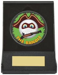 Black Case Golf Collectable - Bandit - TW18-168-673ZAP - Dia 60mm
