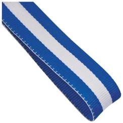22mm Width Medal Ribbon - Blue/White/Blue