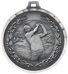 50mm Diamond Edged Golf (M) Medal - TW18-169-MD819S