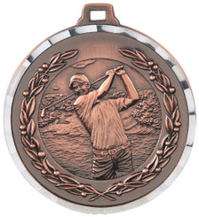 50mm Diamond Edged Golf (M) Medal - TW18-169-MD819B