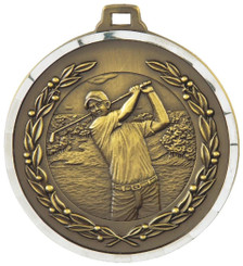 50mm Diamond Edged Golf (M) Medal - TW18-169-MD819G