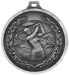 50mm Diamond Edged Golf (F) Medal - TW18-169-MD820S