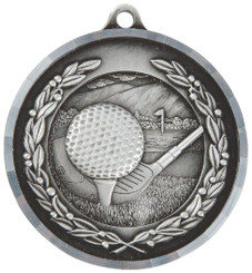 50mm Diamond Edged Golf Ball/Club Medal - TW18-169-MD014S