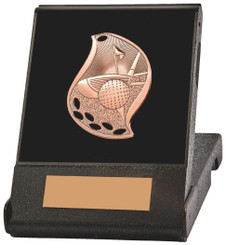 Flame Design Golf Medal in Presentation Case - TW18-170-T.1235 - Gold