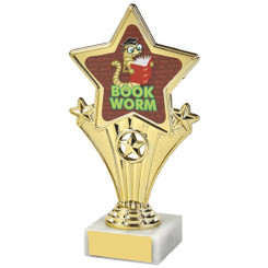 Fun Customisable Star Awards - BOOK WORM