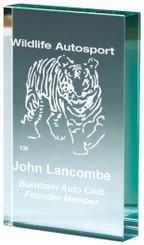 "Jade Glass Block Award - TW18-180-T.8987 - 10cm (4"")"