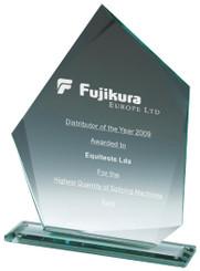 "Jade Glass Iceberg Award - TW18-183-T.7769 - 15cm (6"")"