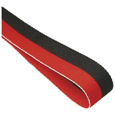 22mm Width Medal Ribbon - Red/Black