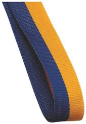 22mm Width Medal Ribbon - Blue/Gold