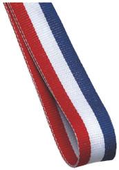 22mm Width Medal Ribbon - Red/White/Blue