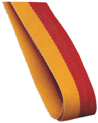 22mm Width Medal Ribbon - Gold/Red