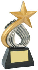 """Resin Gold Star Sculpture - 25cm (10"""")"""