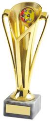 """Gold Plastic Trophy Cup - TW18-042-539B - 17.5cm (7"""")"""