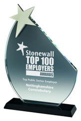 "Crystal Star Award - 23cm (9"")"