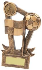 "Corner Flag and Ball Football Award - 15cm (6"") - TW18-029-RS584"