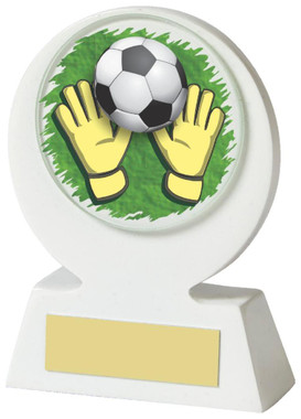 "White Resin Goalkeeper Award - 11cm (4 1/4"") - TW18-031-526ZAP"
