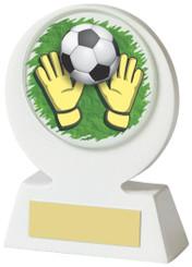"""White Resin Goalkeeper Award - 11cm (4 1/4"""") - TW18-031-526ZAP"""