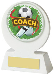 "White Resin Football Coach Award - 11cm (4 1/4"") - TW18-031-527ZAP"
