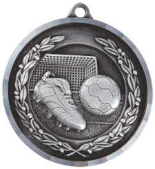 50mm Boot & Ball Football Medal with Diamond Milled Edge - TW18-036-MD012S