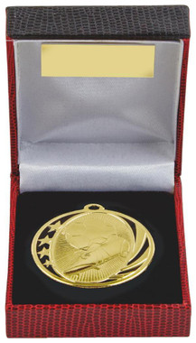 50mm Boot & Ball Football Medal in Case - TW18-036-230A