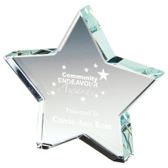 "Crystal Star Award - 10cm (4"")"