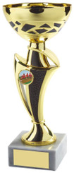 "Gold & Black Trophy Cup - TW18-050-547B - 26.5cm (10 1/2"")"