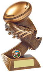 "Rugby Boot/Ball Resin Award - TW18-059-RS821 - 25cm (10"")"