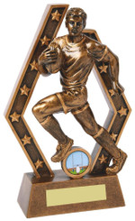 "Rugby Player Resin Trophy - TW18-059-RS823 - 15.5cm (6"")"