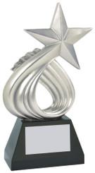 "Resin Silver Star Sculpture - 25cm (10"")"