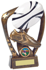 "Rugby Boot/Ball Resin Award - 18cm (7"") - TW19-064-RS849"