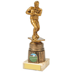 Antique Gold Male Rugby Figure Award - 20cm