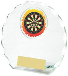 "Round Jade Glass Darts Award - 11cm (4 1/4"")"