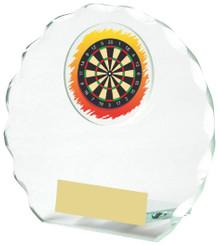 "Round Jade Glass Darts Award - 11cm (4 1/4"")"