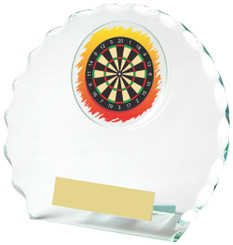 "Round Jade Glass Darts Award - 12cm (4 3/4"")"