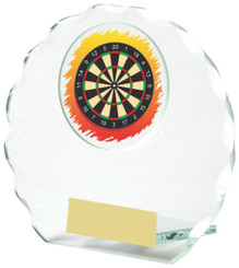 "Round Jade Glass Darts Award - 10cm (4"")"