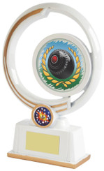 "White Resin Lawn Bowls Award - 22cm (8 3/4"")"