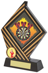 "Black Resin Diamond Darts Award - TW18-074-573ZAP - 19cm (7 1/2"")"