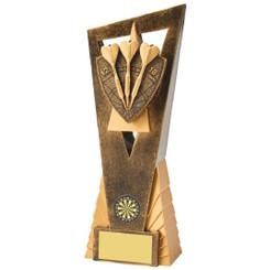 Antique Gold Darts Edge Award - 23cm