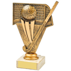 Antique Gold Hockey Holder Award - 15cm