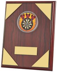 """Rosewood Darts Plaque Trophy - TW18-072-778ZCP - 18cm (7"""")"""