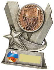 "Metal Basketball Stand Award - TW18-082-792CP - 10cm (4"")"