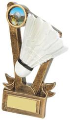 "Budget Resin Badminton Award - TW18-083-RS629 - 9cm (3 3/4"")"