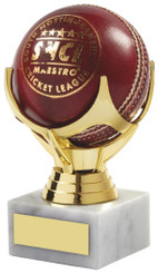 "Cricket Ball Holder Trophy - TW18-067-564A - 12.5cm (5"")"