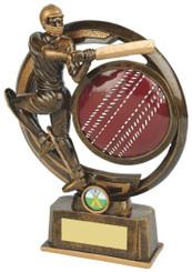"Gold Resin Cricket Batsman Award - TW18-066-RS615 - 25.5cm (10"")"