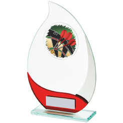Jade/Red Glass Darts Award - 19cm