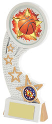 "White Resin Basketball Award - TW18-082-585ZBP - 19.5cm (7 3/4"")"