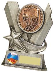"Metal Basketball Stand Award - TW18-082-792AP - 13cm (6 1/4"")"