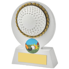 White Hockey Ball Resin Award - 11cm
