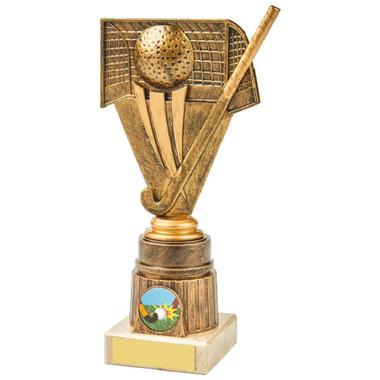 Antique Gold Hockey Holder Award - 21cm